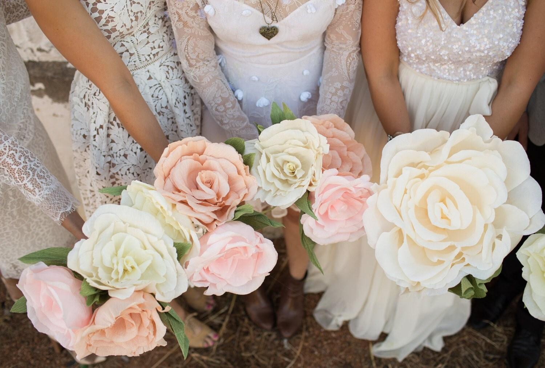 Large Paper Flower Rose. Bridal Paper Bouquet