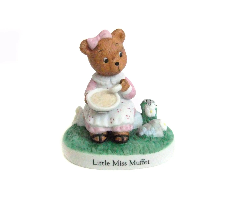 Little Miss Muffet Figurine Nursery Rhyme Bears Vintage Bear
