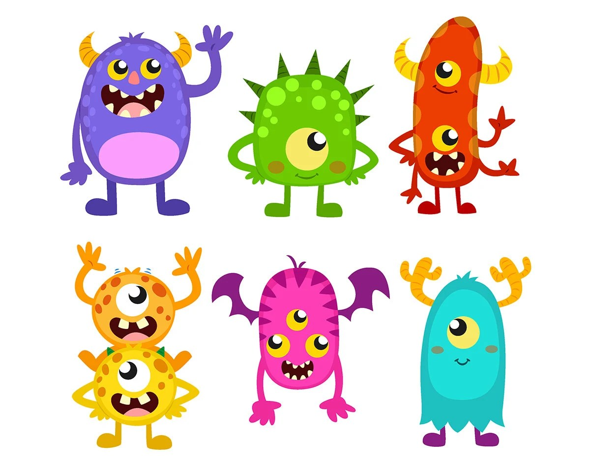 Sale Monster Clipart Cute Funny Monsters Cliparts Monster