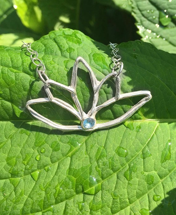 Bridesmaid Necklace Lotus...