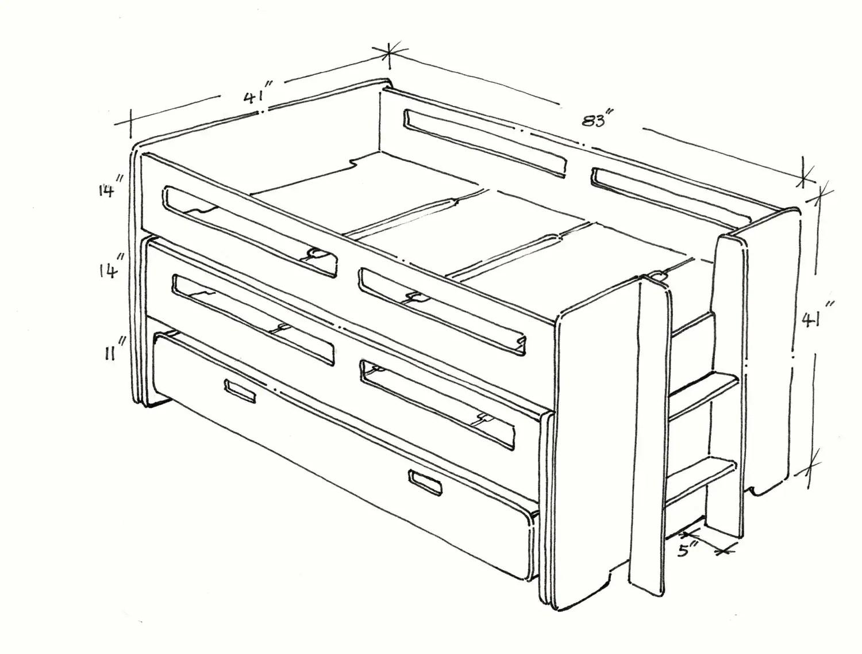 Triple Nesting Bed
