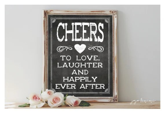 Download Instant 'CHEERS to love laughter and happily ever by JoJoMiMi