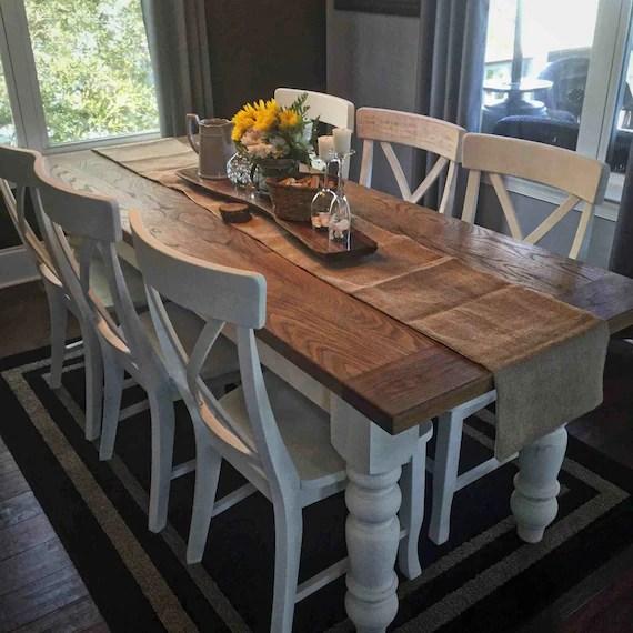 Items Similar To Custom White Oak Farmhouse Table On Etsy