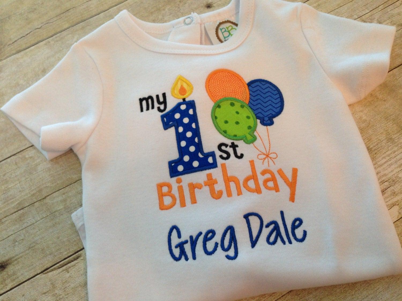 First Birthday Shirt Or Bodysuit Boys First Birthday