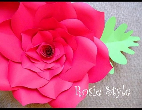 DIY Large Paper Flowers, Paper Roses, Backdrop Paper flowers, Large Paper Roses, SVG cutting files, SVG Files, Pdf, Wedding Decor