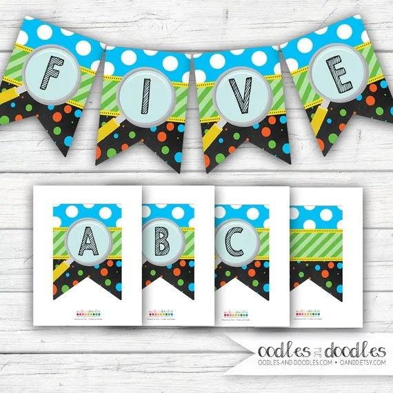 Science Birthday Banner Science Party Decorations Printable