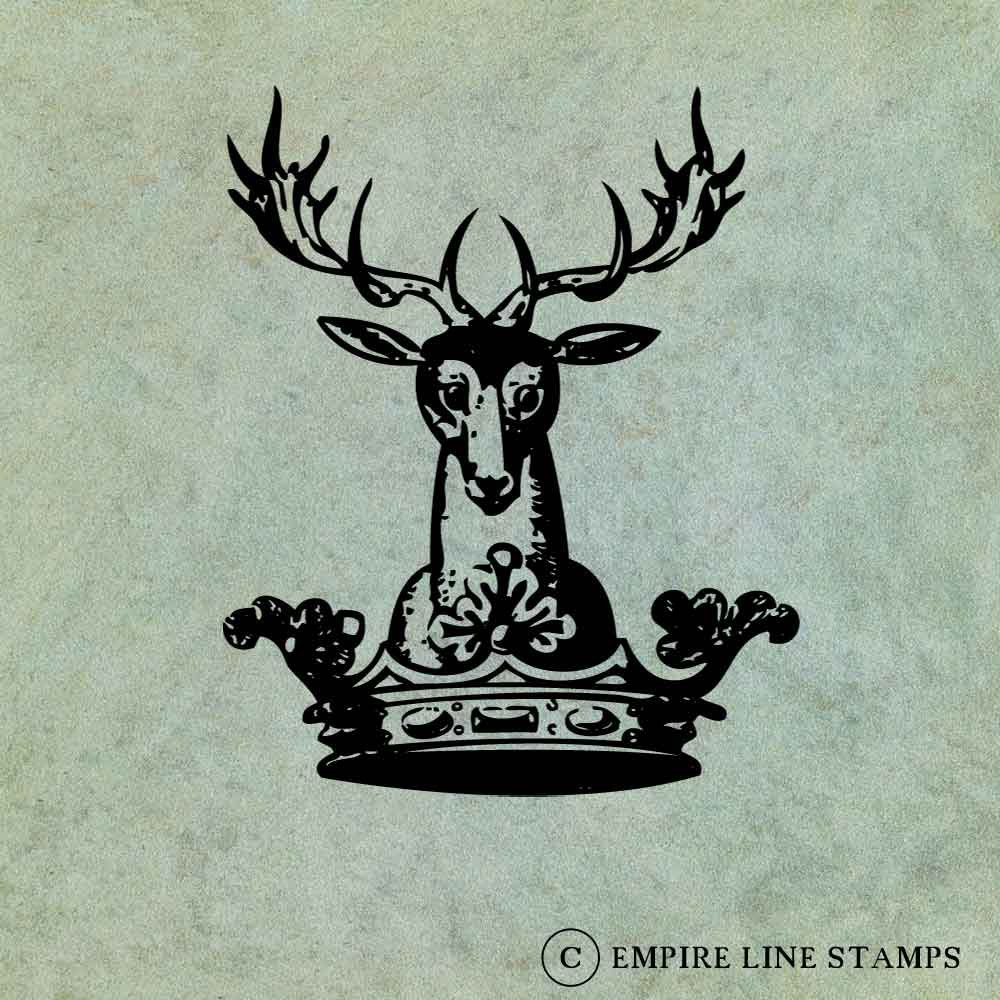 Deer with Antlers in Crow...