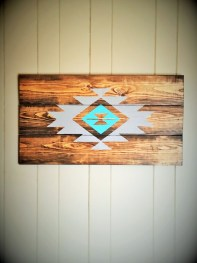 Handmade Aztec Wood Sign
