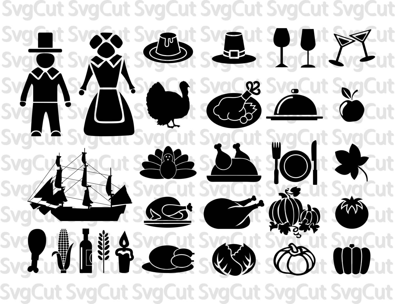 Thanksgiving Svg Bundle Fall Clipart Food Turkey Svg Sign