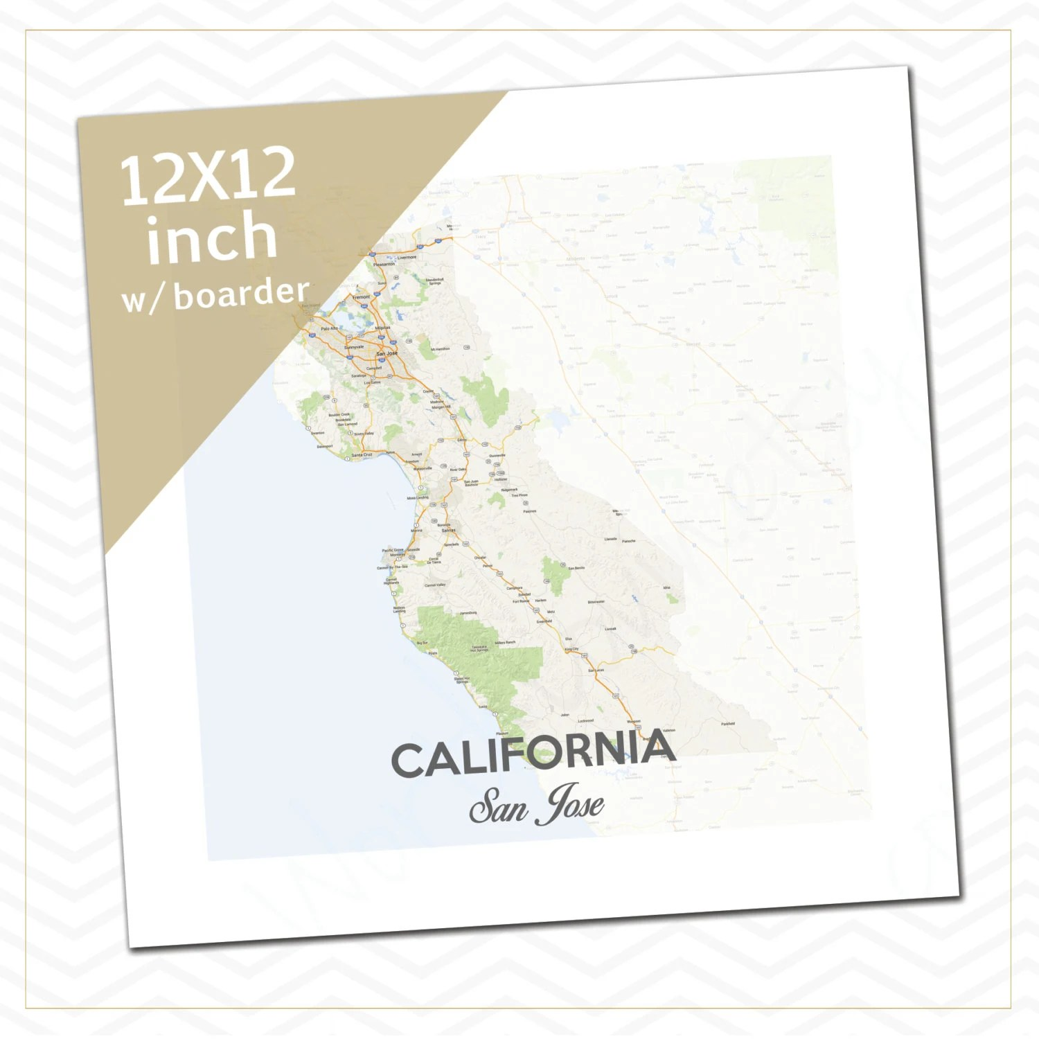 California San Jose Mission Map Mission Boundaries By