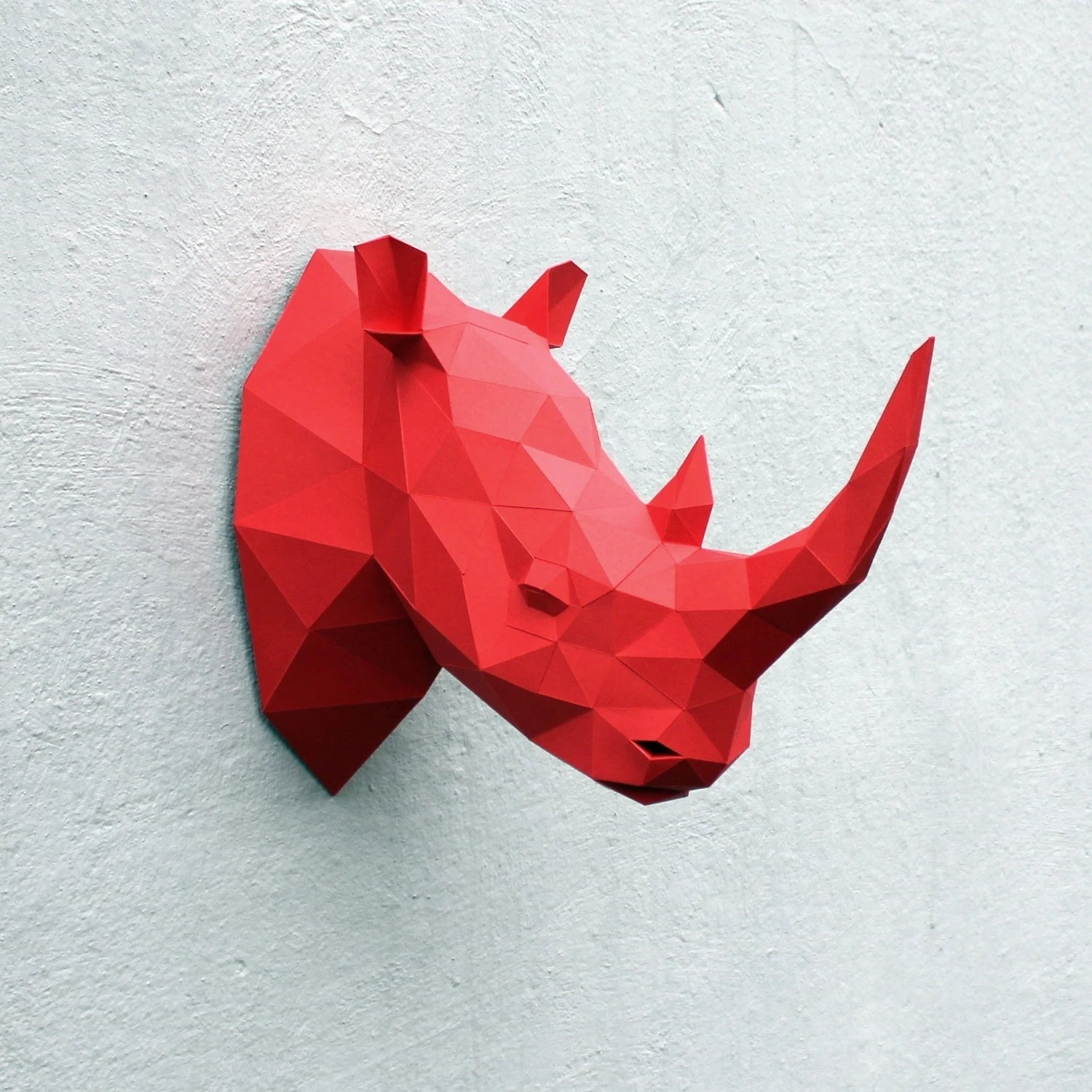 Papercraft Rhino Head Printable DIY Template By WastePaperHead