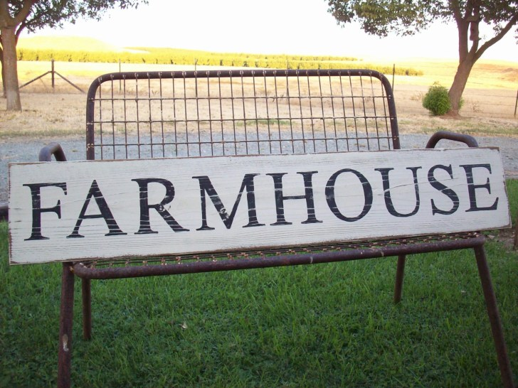 Farmhouse Sign Decor French Country Kitchen Large