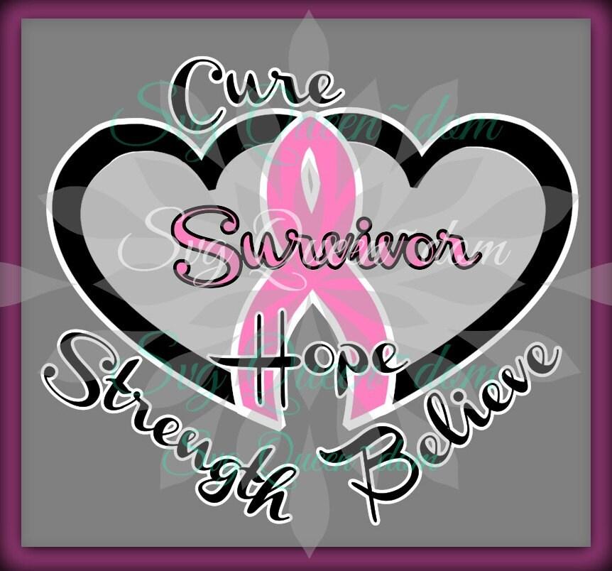 Download Cancer SVG Ribbon Believe Hope Faith Survivor Love Cure