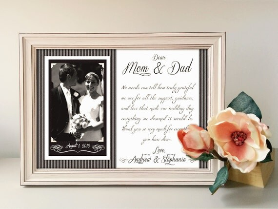 Parents Wedding Gift-Parents Thank You Gift Wedding By
