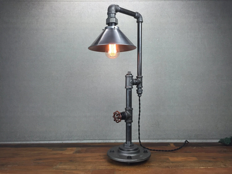 Metal Shade Table Lamp Industrial Furniture Edison Bulb