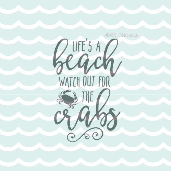 Download Beach SVG Life's A Beach SVG Vector File. Cricut Explore
