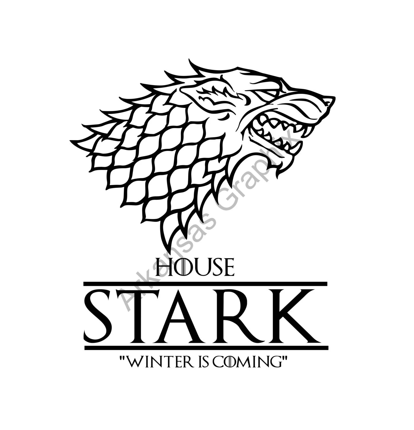 Game Of Thrones House Stark Vector Cuttable Files Eps Ai