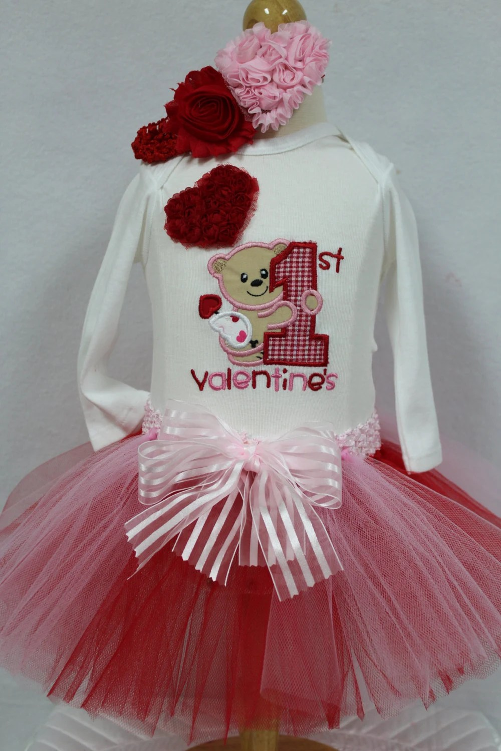 DollyWollySewing Baby Girl First Valentines Day Outfit