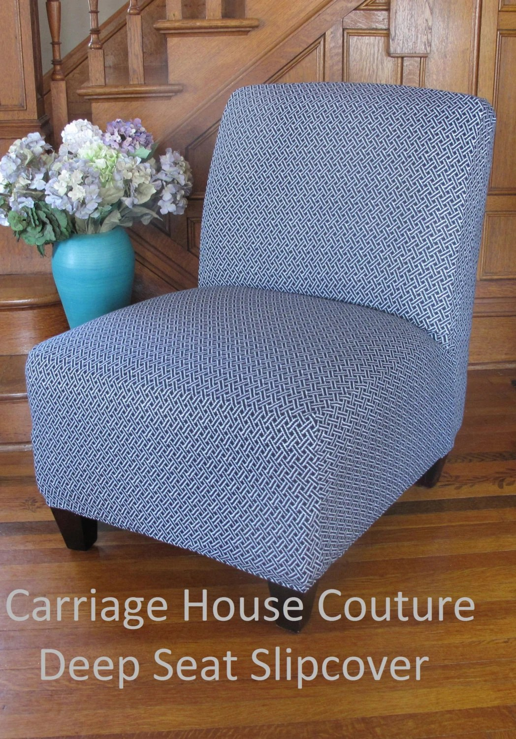 Teal And Brown Accent Chair