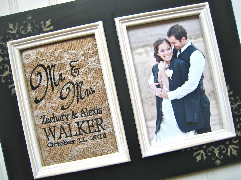 Personalized Wedding Gift Mr And Mrs Photo Frame Custom