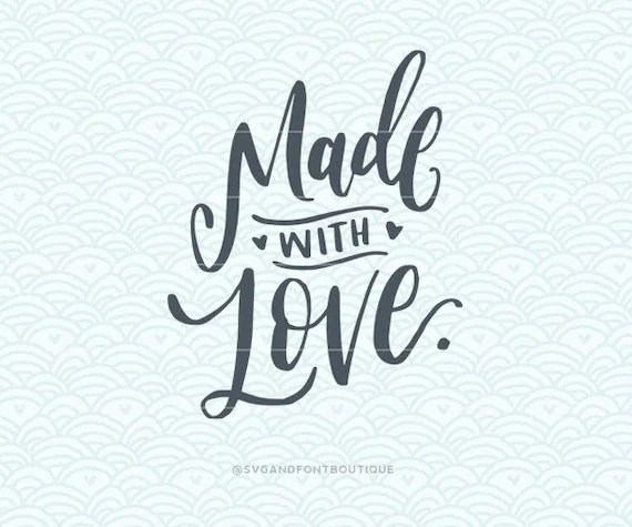 Download SVG Cuttable Vector Made with Love SVG Vector file.