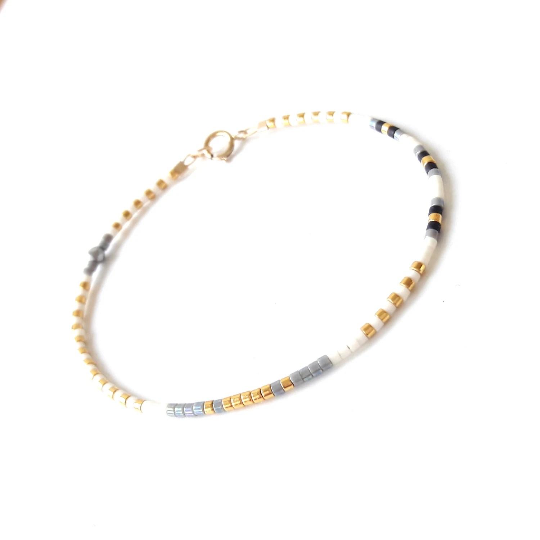 Tiny Beaded Bracelet Bead Friendship Bracelet Seed Bead