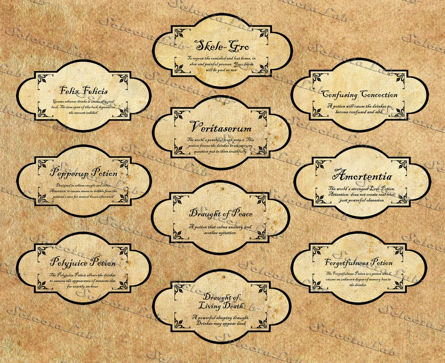 picture regarding Harry Potter Potion Labels Printable named Hp Labels Template. prescription label instance http www