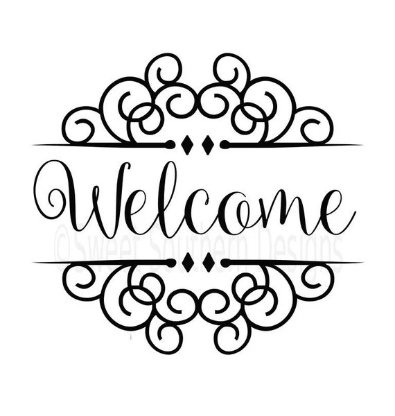 Download Welcome SVG instant download design for cricut or silhouette