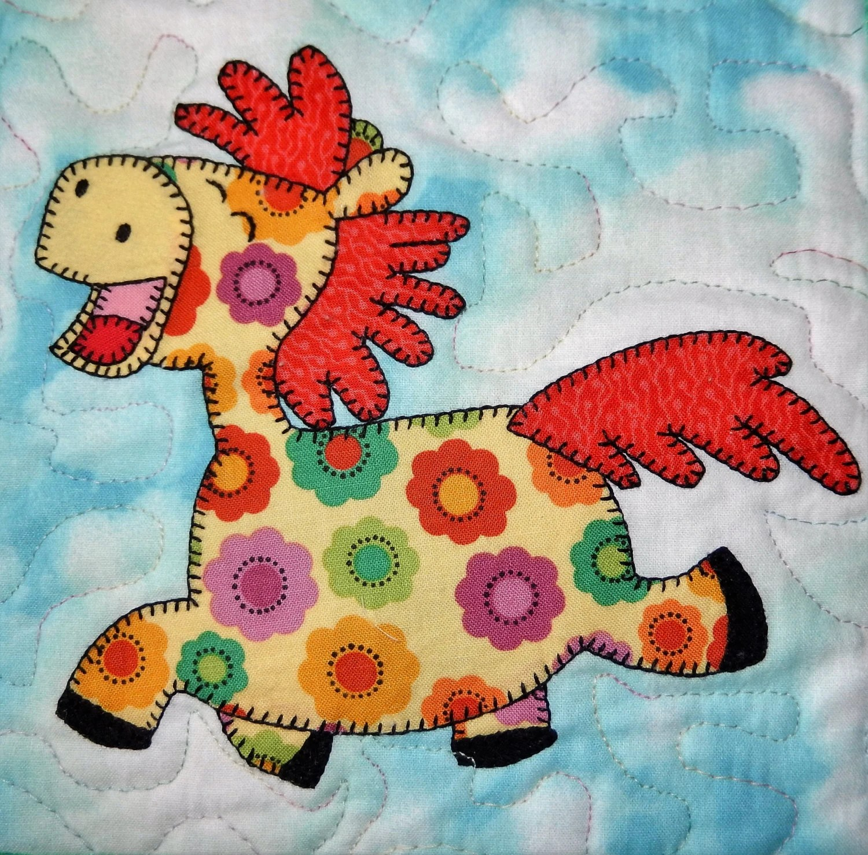 Horse Or Pony Applique Quilt Block Pattern Farm Animal
