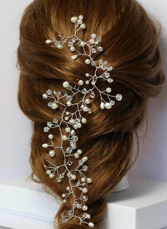 Bridal Hair Vine Pearl And Crystal Hair Vine Hair Vine