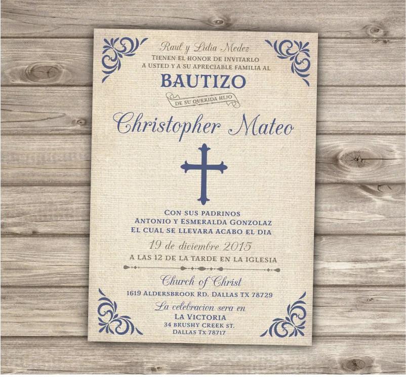 Free Printable Baptism Invitations Spanish