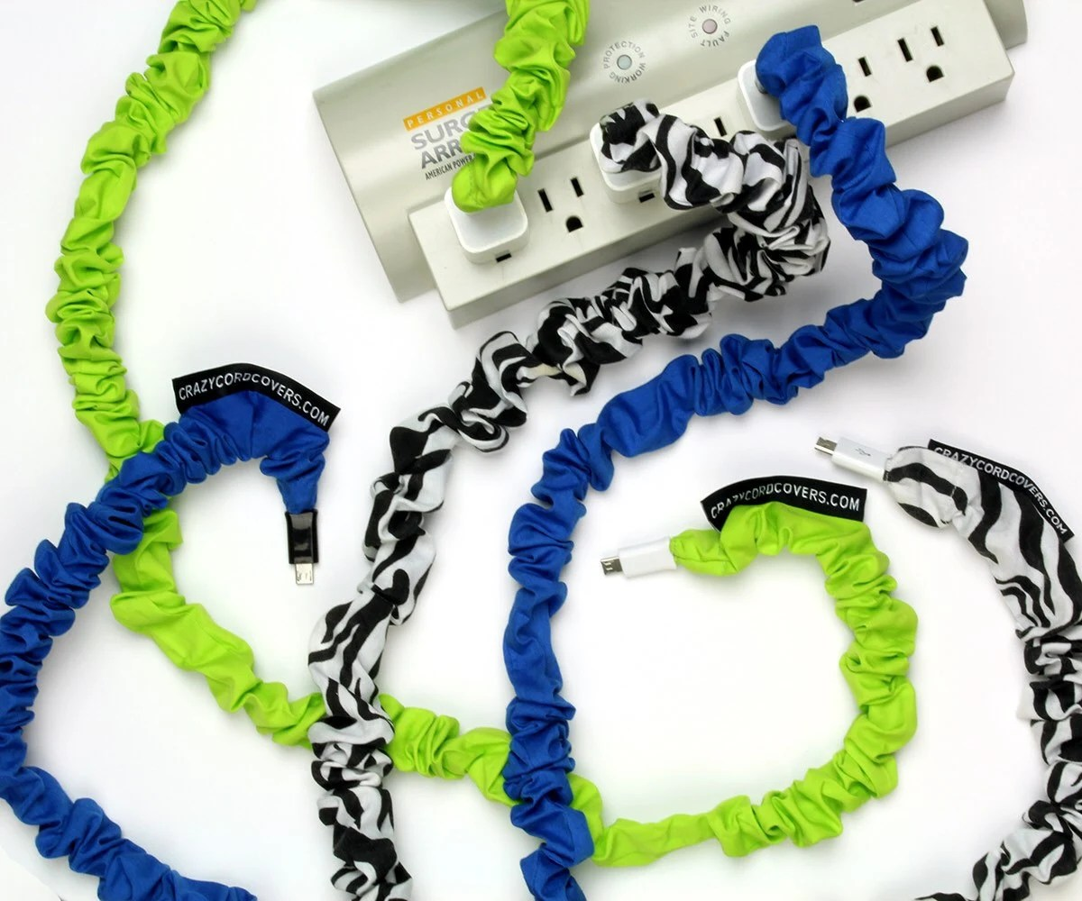 Crazy Cord Covers Cell Phone Tablet Cord Cover Cord