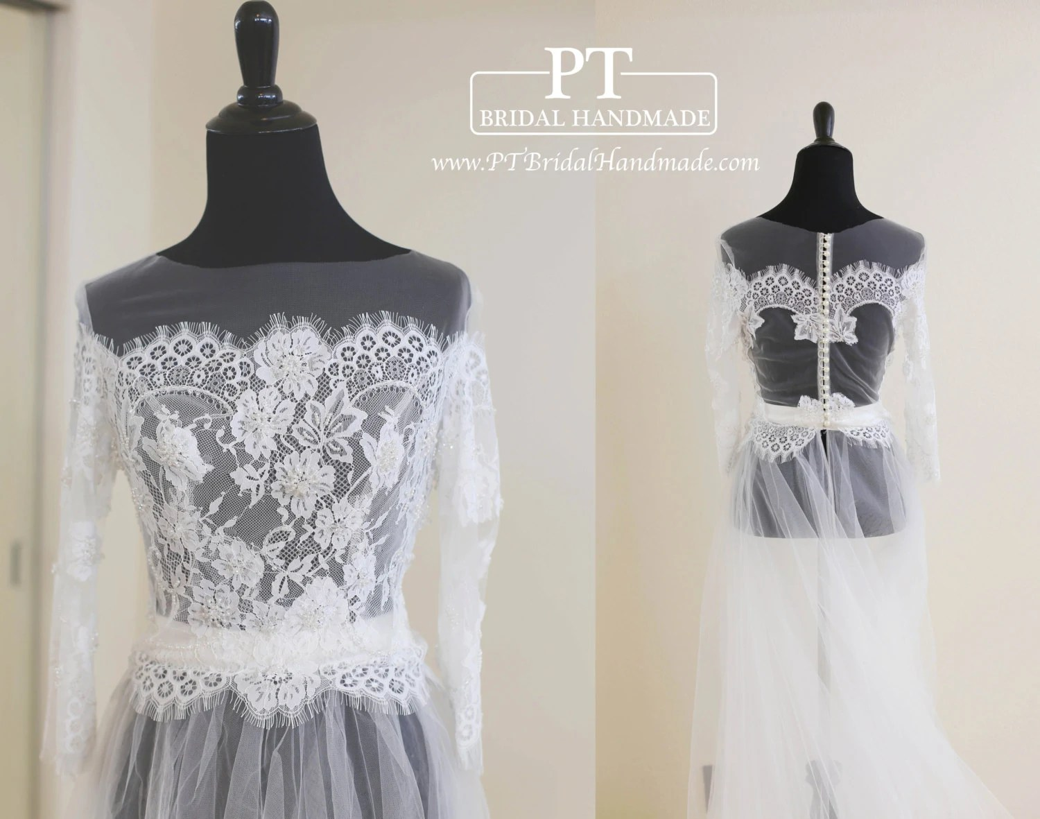 Wedding Dress Topper Bridal Lace Top Wedding Lace Top