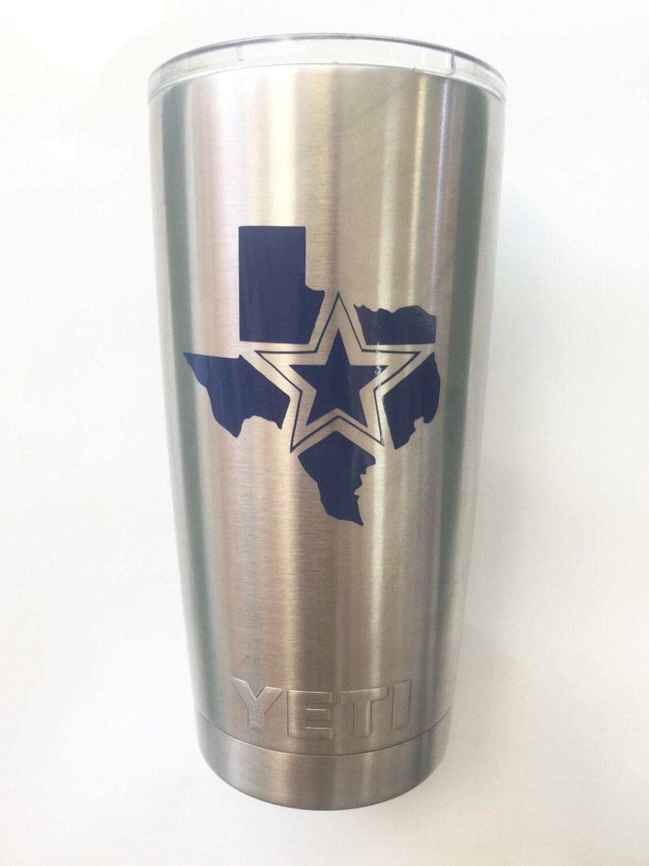 Dallas Cowboys Texas Decal Sticker For Yeti RTIC Rambler