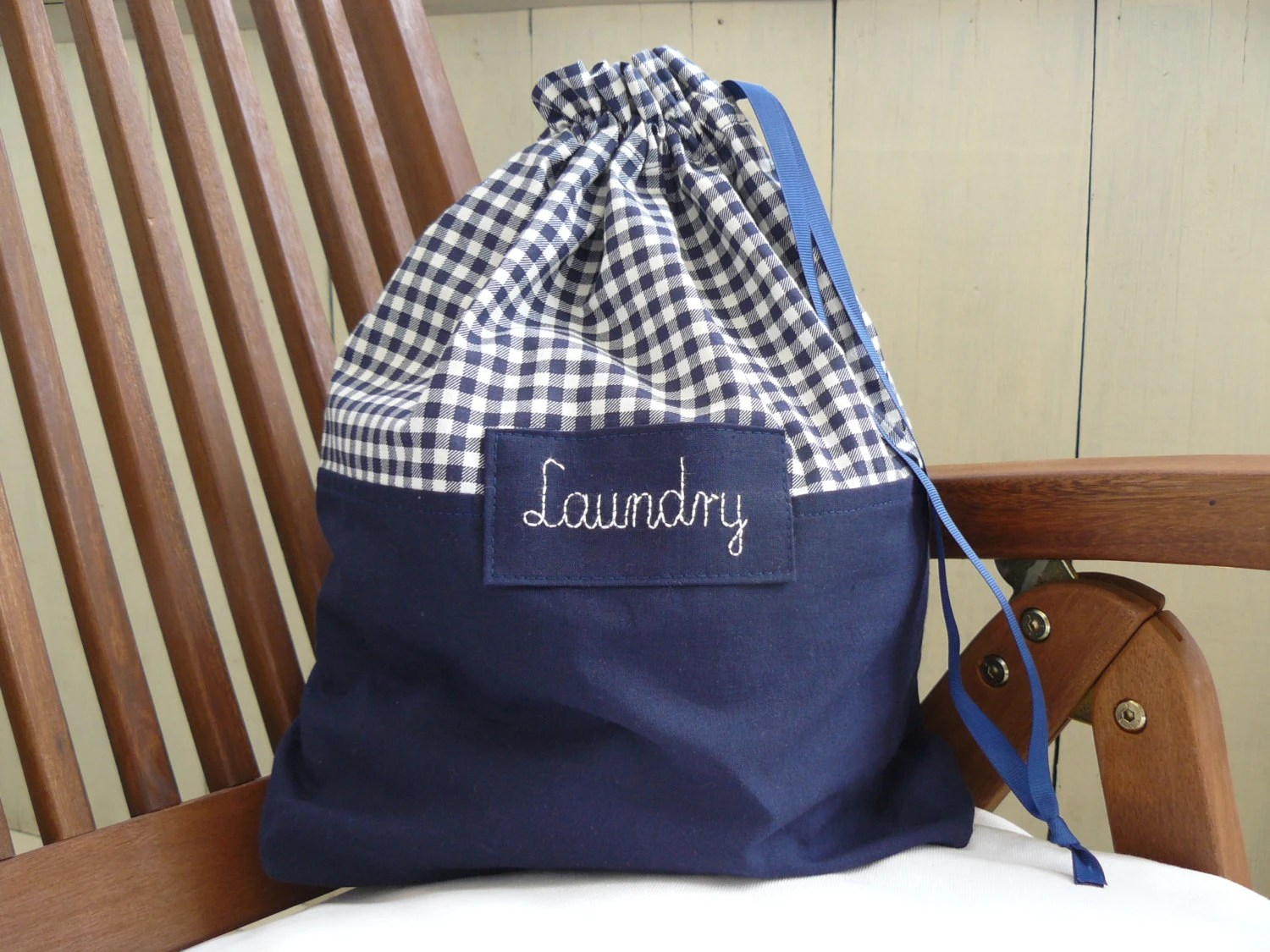 Travel Laundry Bag Dirty Clothes Bag Checkered By BalticBags