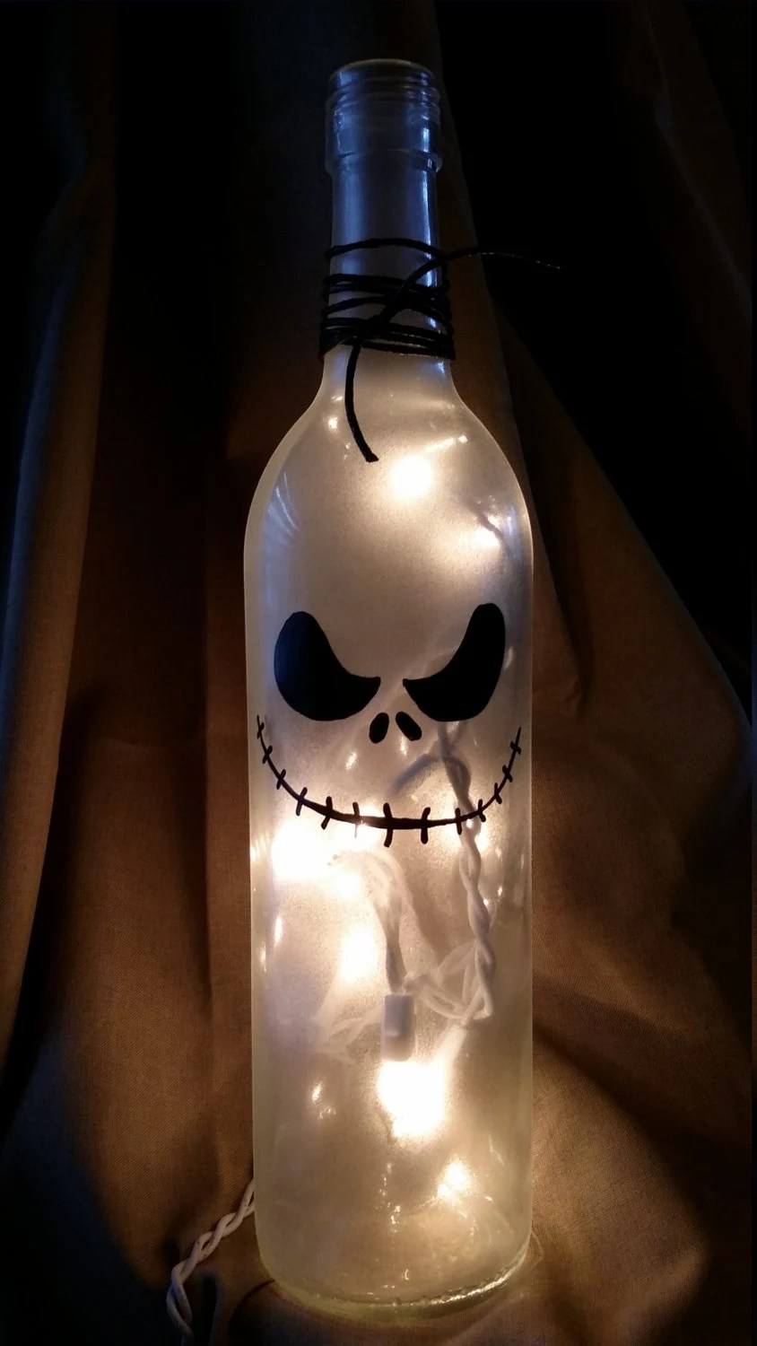 Jack Nightmare Before Christmas Wine Bottle Painted