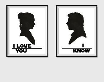 Download I Love You I Know Star Wars Digital Print by ...