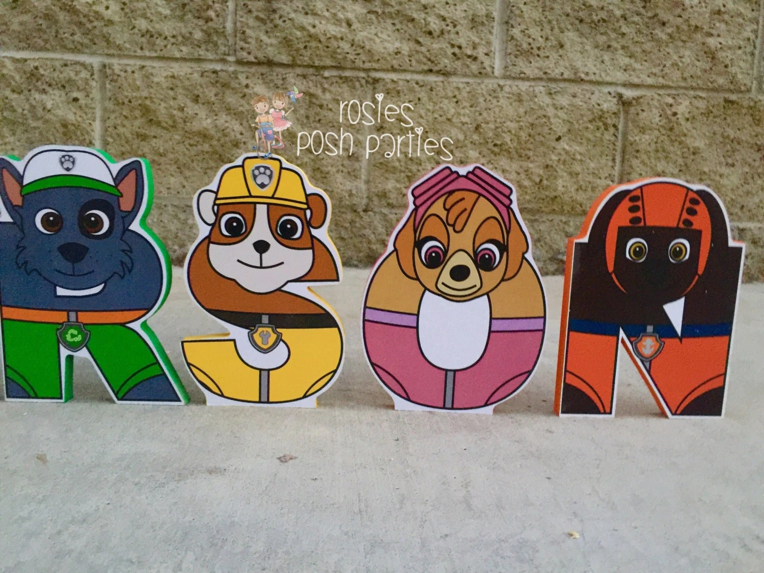Paw Patrol Letters Wood Letters With Characters For Birthday