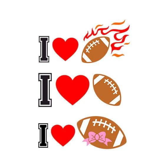 Download Football SVG Cut Files i love football eps svg dxf