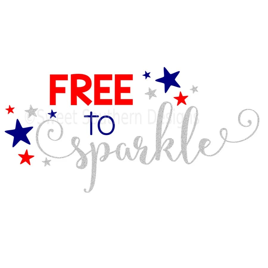 Download Free to sparkle fourth of July girls SVG instant download