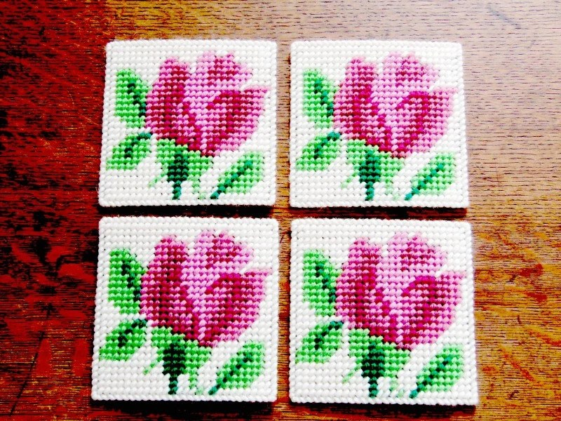 Rose Floral Coasters Rose Beverage Coaster Rose Drink