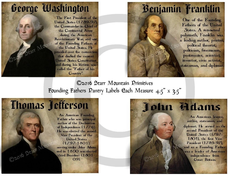 Primitive Founding Fathers George Washington Thomas