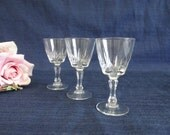 Three Antique Crystal Liq...