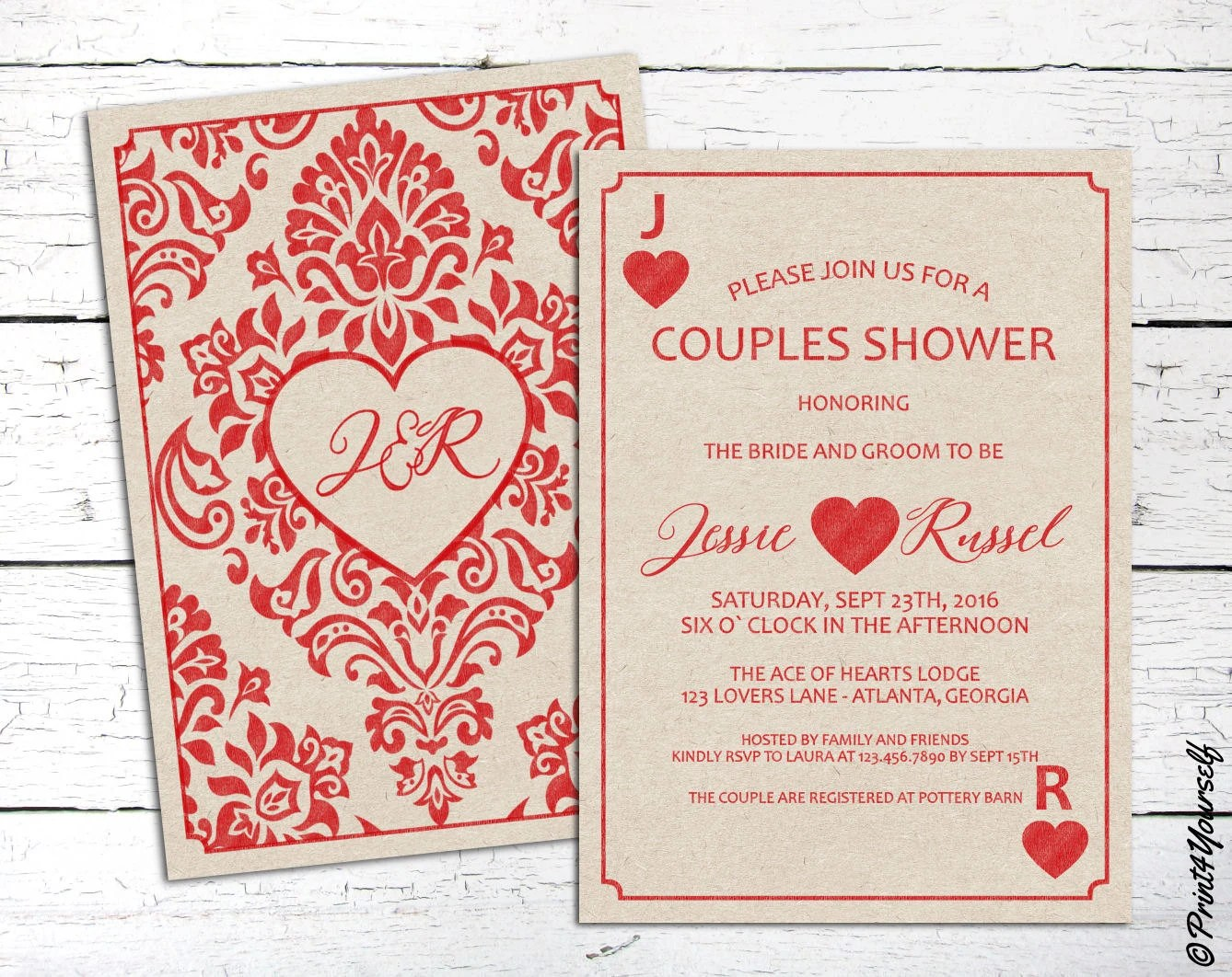 Couples Shower Card