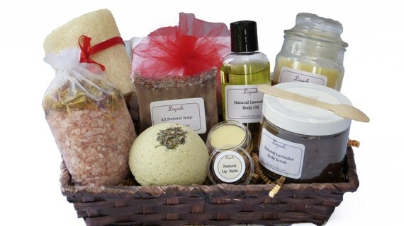 Mothers Day Gift. Luxury SPA Gift Basket. Natural SPA By