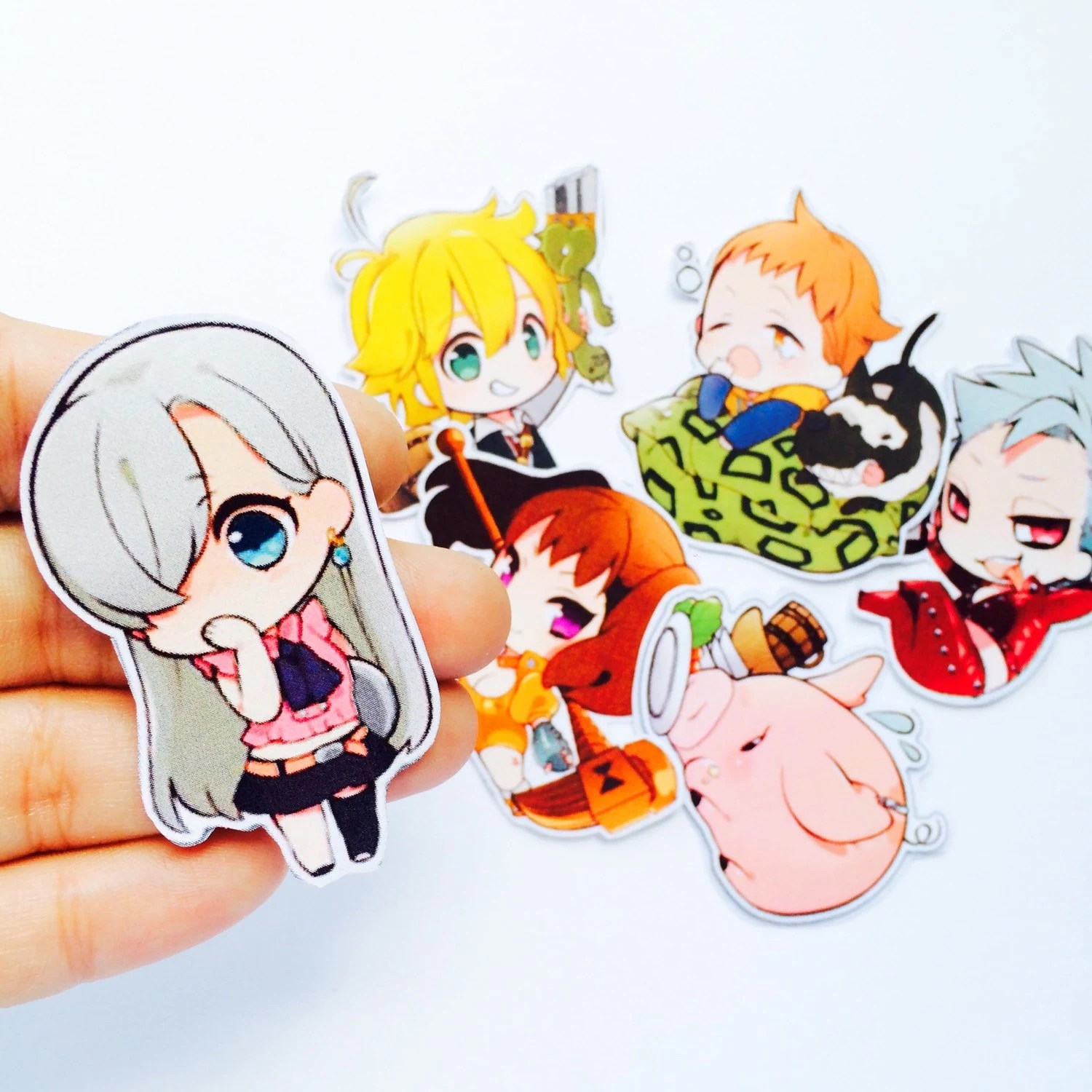 7 Deadly Sins Anime Manga Glossy Planner Kawaii Chibi Stickers