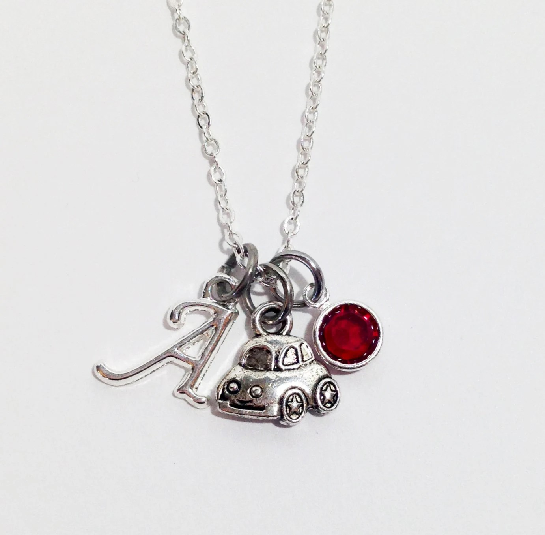 Vw Bug Necklace Vw Beetle Car Charm Silver Necklace