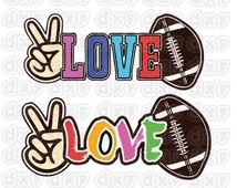 Download Unique peace love football related items   Etsy