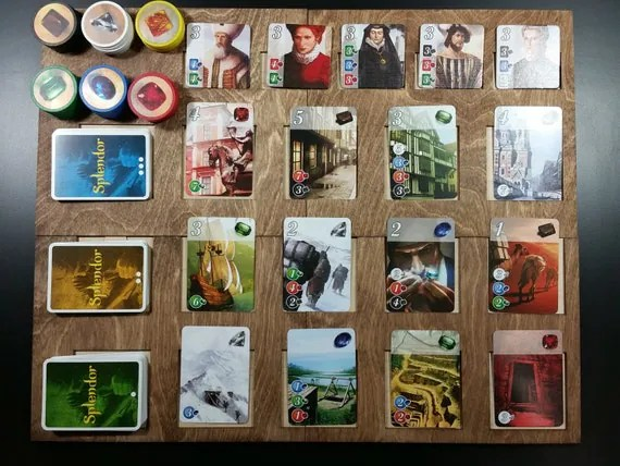 Splendor Game Board for organizing cards and tiles during gameplay