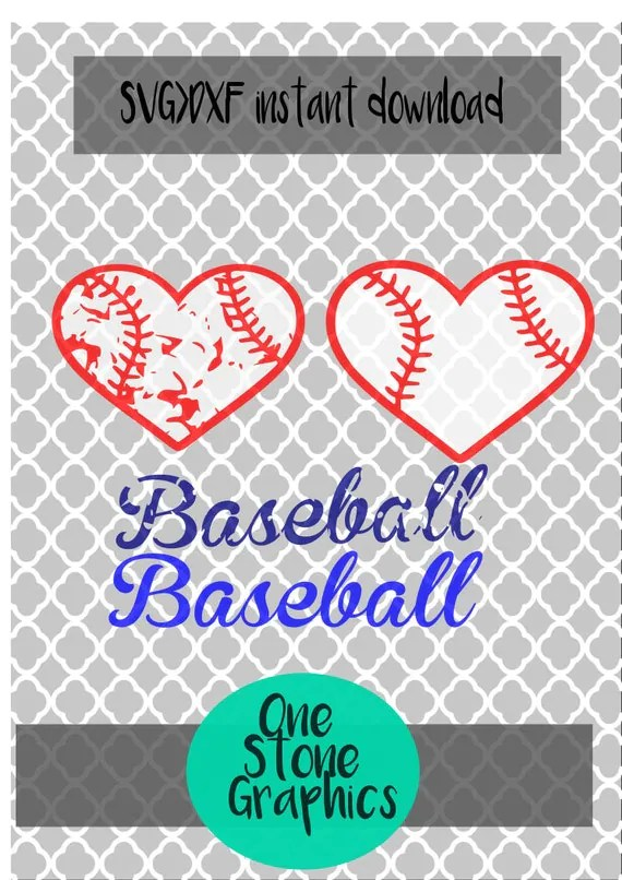 Download Items similar to baseball heart svg,baseball heart ...